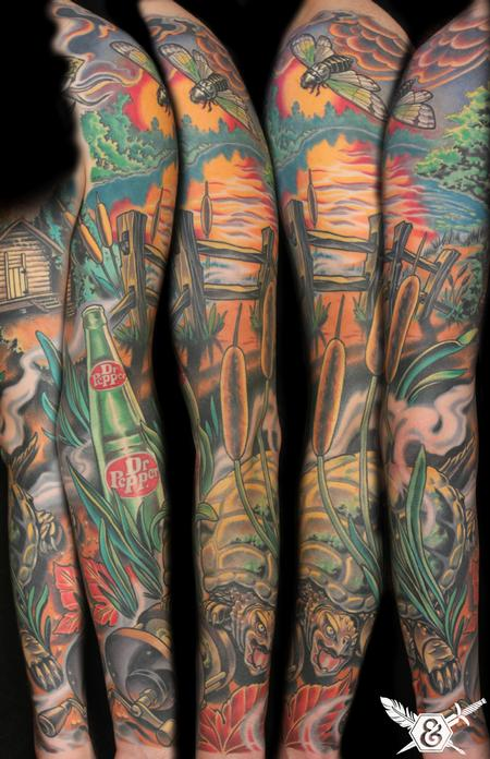 Russ Abbott - Snapping turtle and South Georgia landscape sleeve