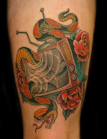 Tattoos - TV and Snake - 34723