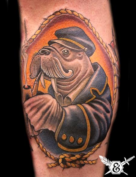 Tattoos - Walrus Sea Cap'n - 70094