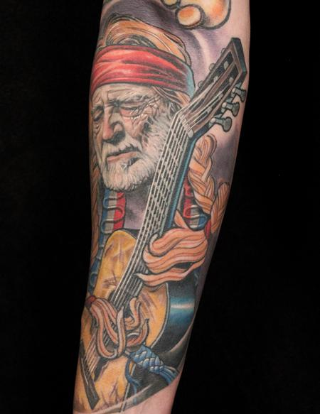 Willie Nelson Tattoo Design Thumbnail