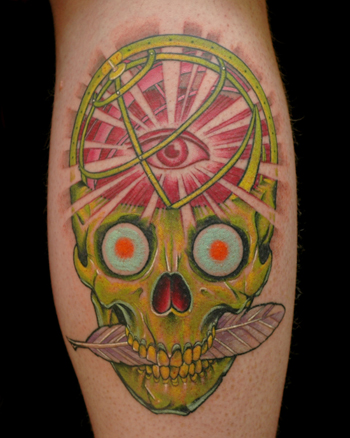 Tattoos - Science Skull - 28621