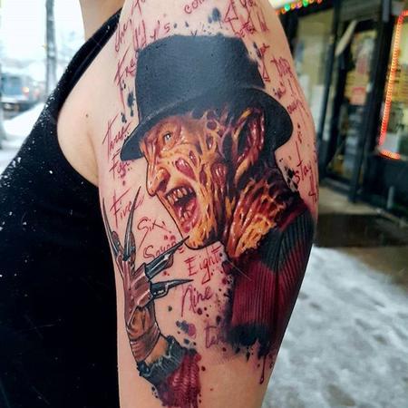 Nightmare on Elm Street Tattoo Design Thumbnail