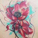 watercolor flower Tattoo Design Thumbnail