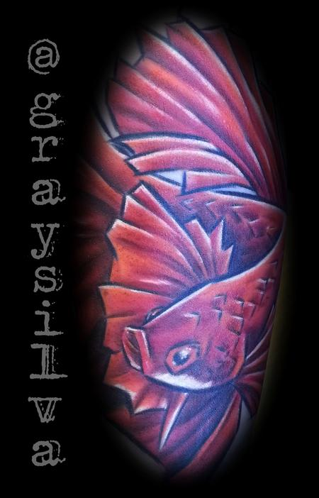 Tattoos - Fighting fish - 120442