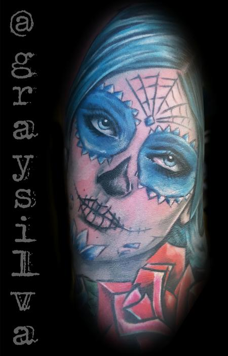 Tattoos - Day of the dead girl - 120440