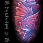 Fighting fish Tattoo Design Thumbnail