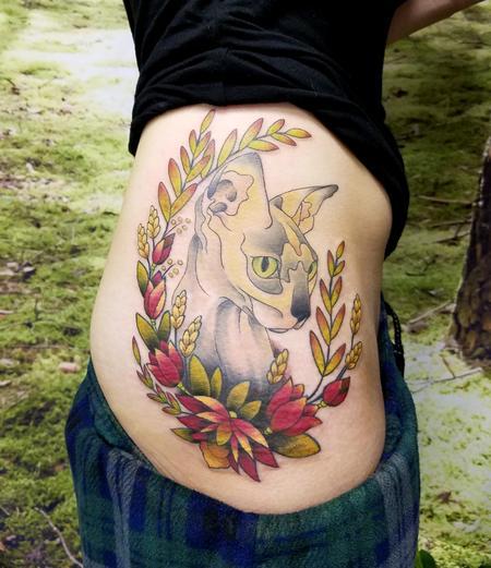 Tattoos - Hip Cat - 126377