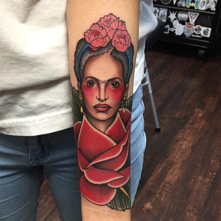 Tattoos - Frida Fahlo Portrait by Adam Mir - 128242