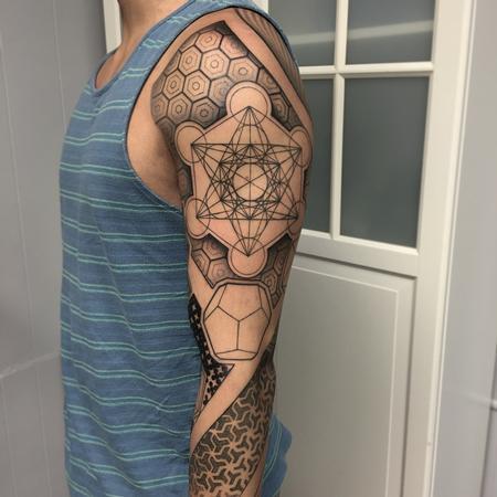 Geometric Full Sleeve Tattoo Tattoo Thumbnail