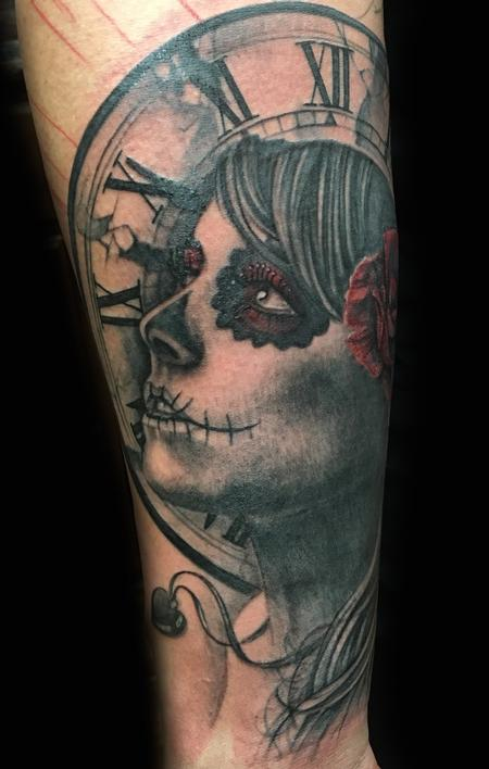 Tattoos - Day of the Dead Tattoo - 122044