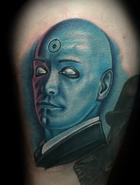 Dr. Manhattan Tattoo Design by Danny Elliott