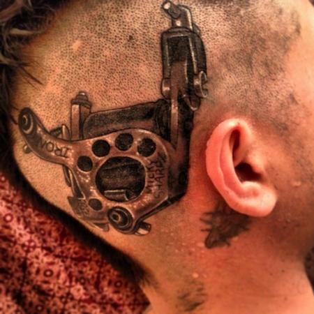 Black and grey tattoo machine Tattoo Thumbnail