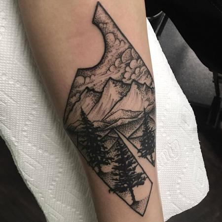 Eric Cantu - Blackwork nature scene