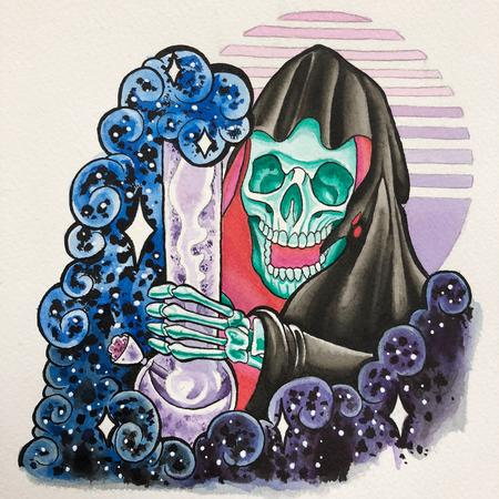Joe Tricomi - Watercolor Grim Ripper