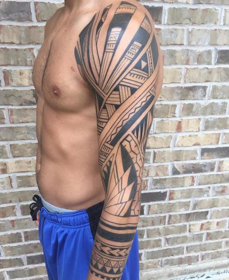 Tribal Sleeve Tattoo Thumbnail