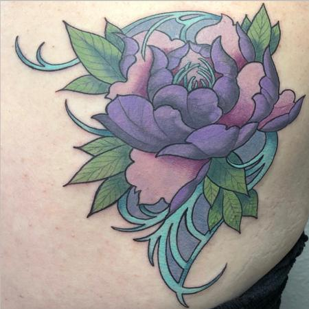 Art Nouveau Style Cover Up Tattoo Design by Joe Tricomi