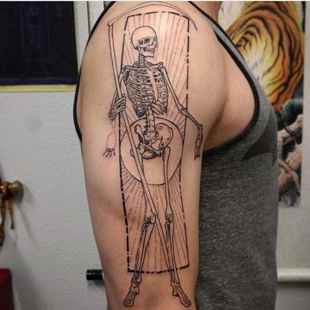 Reaper Skeleton Tattoo Design by Hank Kuya