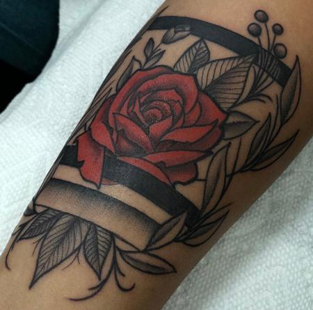 Joe Tricomi - Blackwork Floral Forearm