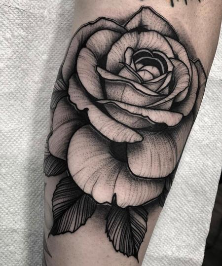 Tattoos - Blackwork Rose  - 133971