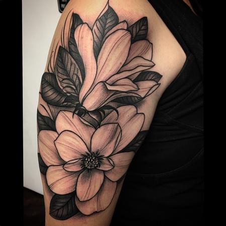 Tattoos - Magnolia Floral Tattoo  - 126611