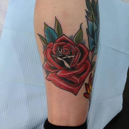 Traditional rose Tattoo Thumbnail
