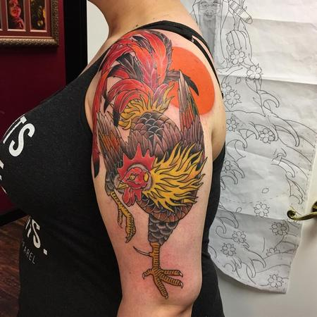 Tattoos - Traditional rooster - 131138