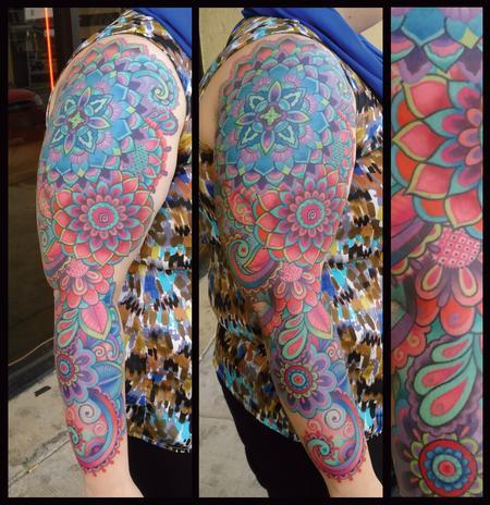 Tattoos - Color Mandala sleeve - 131023