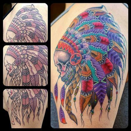 Skull Cheiftan Tattoo Thumbnail