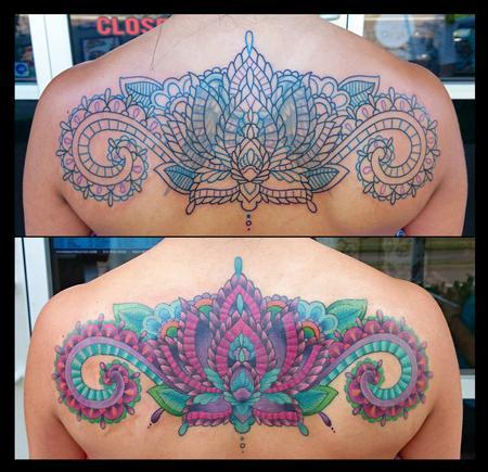Mendhi Color Coverup Tattoo Thumbnail