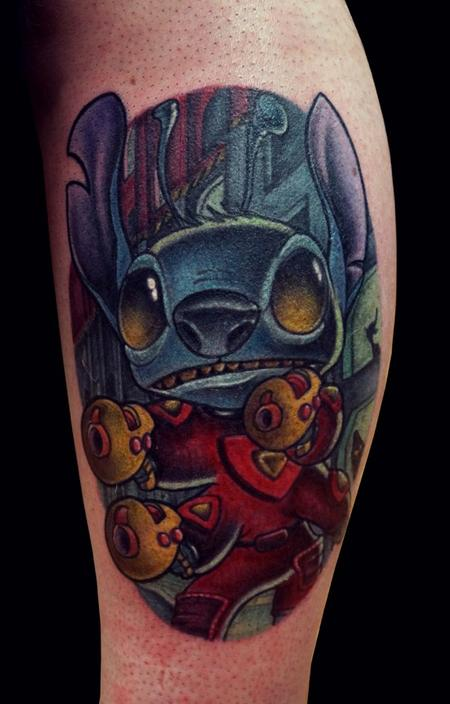 Danny Elliott - Colorful Realistic Stitch Movie Tattoo