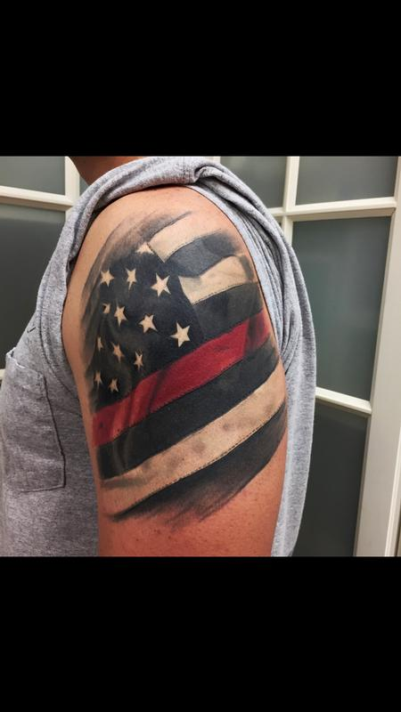 Tattoos - American Flag  - 131388