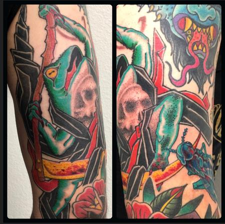 Tattoos - Dancing Reaper Frog  - 133445