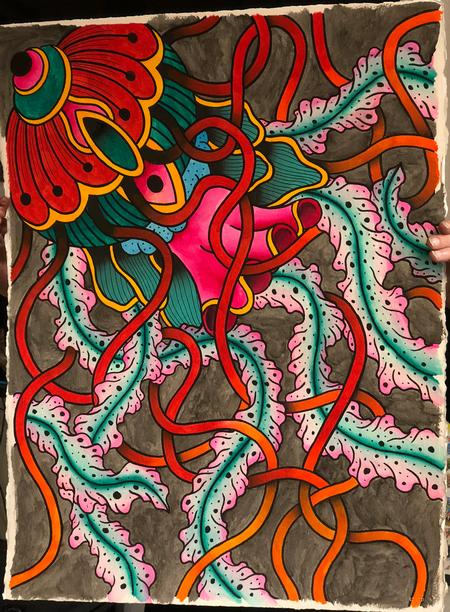 Cody Hennings - Jellyfish Painting