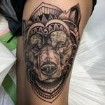 Tattoos - Abstract Geometric Bear Tattoo by David Mushaney - 122719