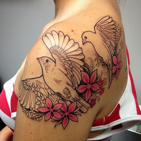 Tattoos - Birds and Flowers - 94802