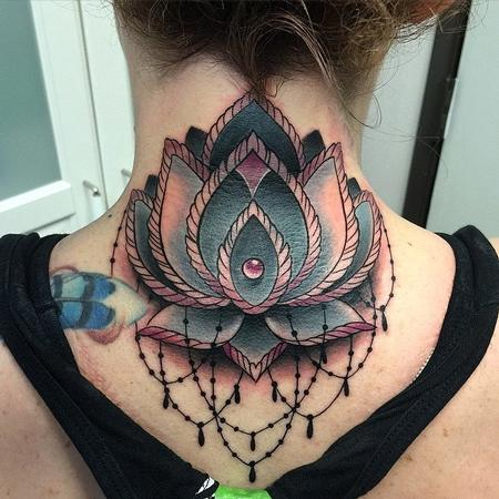 David Mushaney - Lotus Flower Cover-Up Tattoo