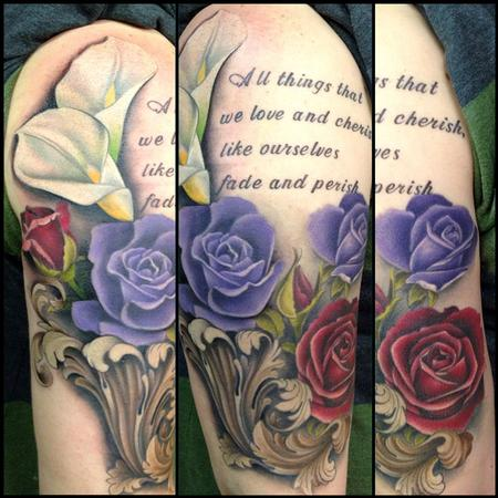 Tattoos - Roses and Calla Lilies - 79685