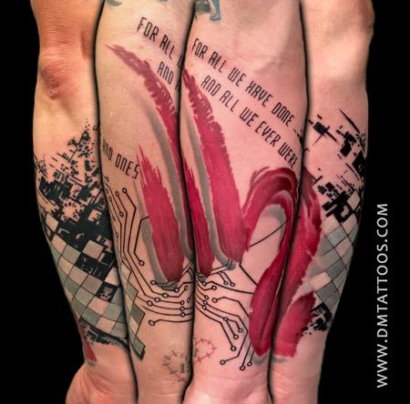 Tattoos - Abstract Nine Inch Nails inspired Half-Sleeve - 94287