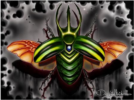 Tattoos - Rhinoceros Beetle Photoshop Painting - 69504