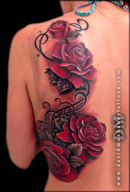 Tattoos - Red Roses - 87606