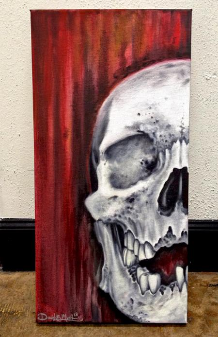 David Mushaney - Skull Oil Painting