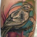Tattoos - Abstract Watercolor Style Bird Tattoo - 99283