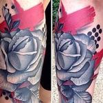 Tattoos - Abstract Style Rose Tattoo - 100478