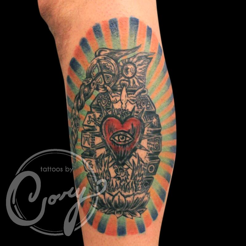 Incubus color tattoo by cory claussen tattoonow for Tattoo shops sioux falls sd