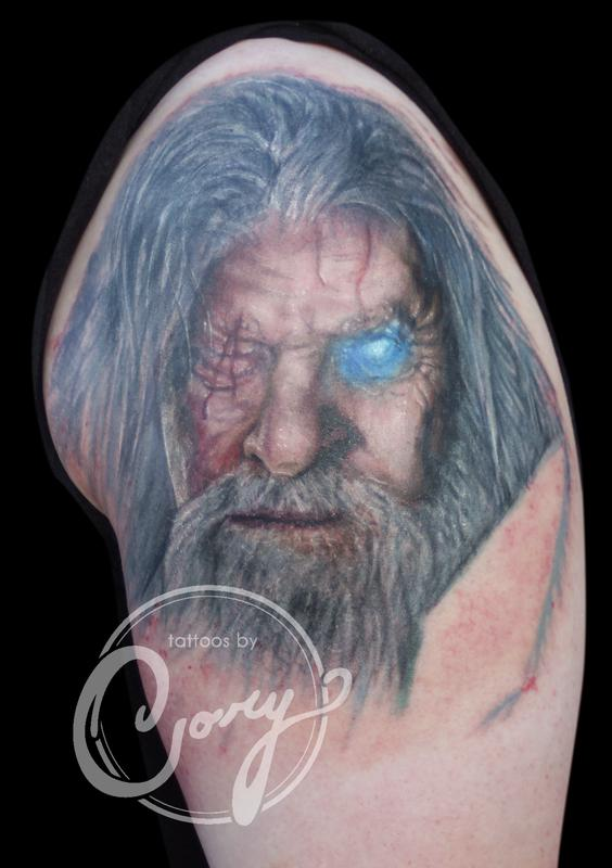 Nordic portrait tattoo sioux falls by cory claussen for Tattoo shops sioux falls sd