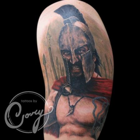 Tattoos - Leonidas of the 300 Spartans - 93425