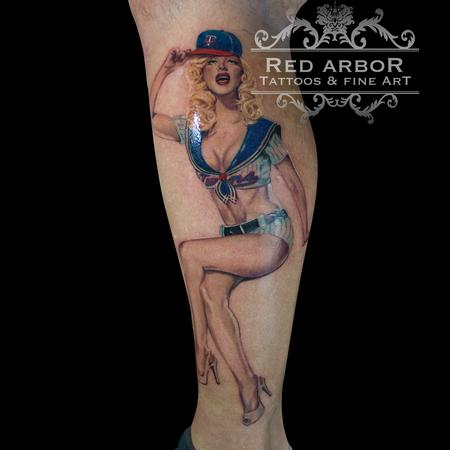 Pin up Tattoo Design Thumbnail