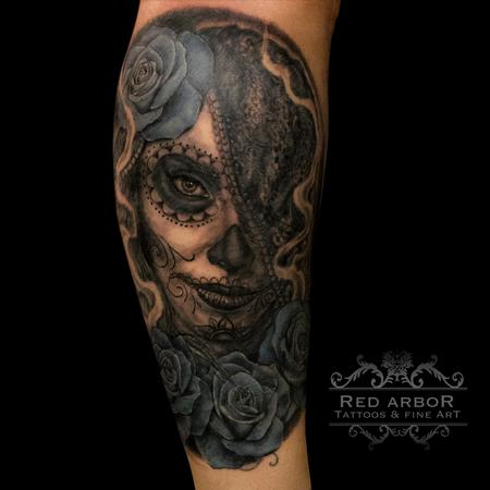 Tattoos - Day of Dead Coverup - 99478