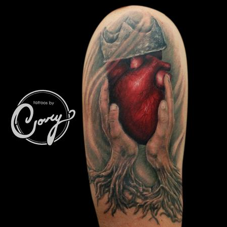 Tattoos - Irish Claddagh Tattoo Heart - 95536