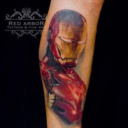 Cory Claussen - Iron Man Portrait Tattoo